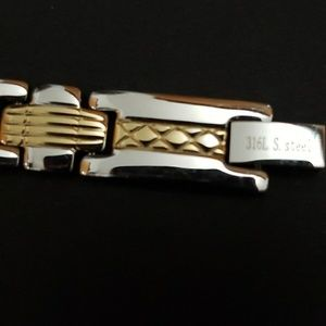 Other - Gold and stainless steel bracelet